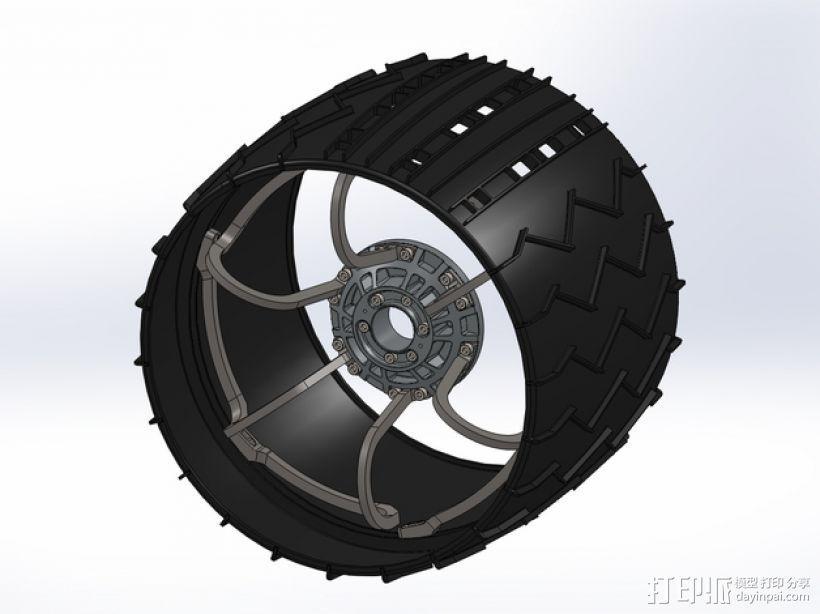 火星车车轮 3D打印模型渲染图