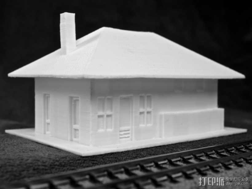 Dante火车站 3D打印模型渲染图