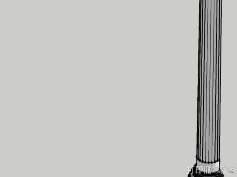 爱奥尼亚式柱子 3D打印模型渲染图