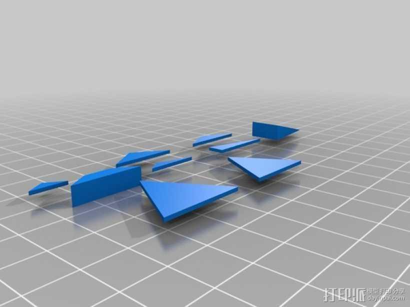 三角形 梯形 3D打印模型渲染图