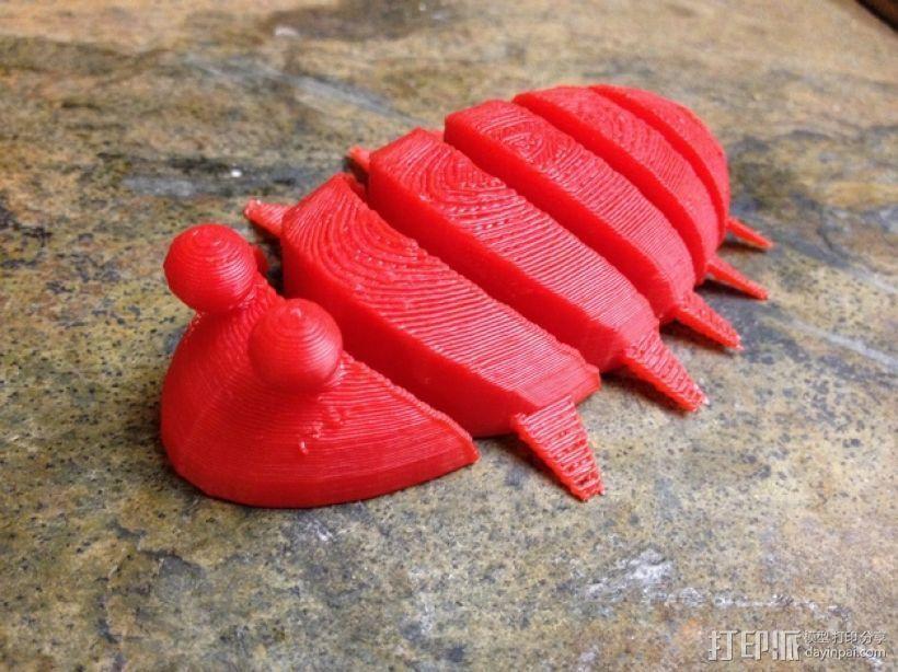 三叶虫 3D打印模型渲染图