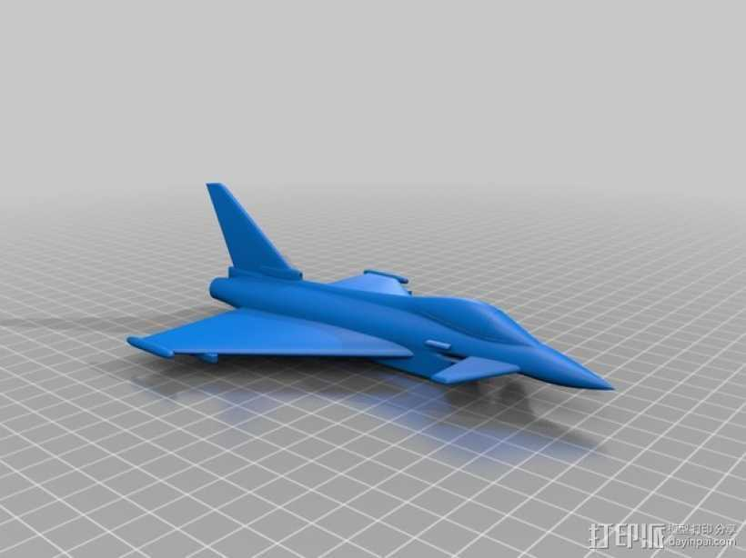 Eurofighter_Typhoon战斗机 3D打印模型渲染图
