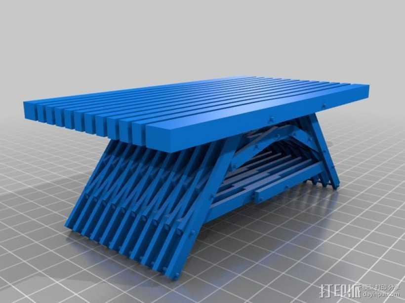 积木桌 3D打印模型渲染图