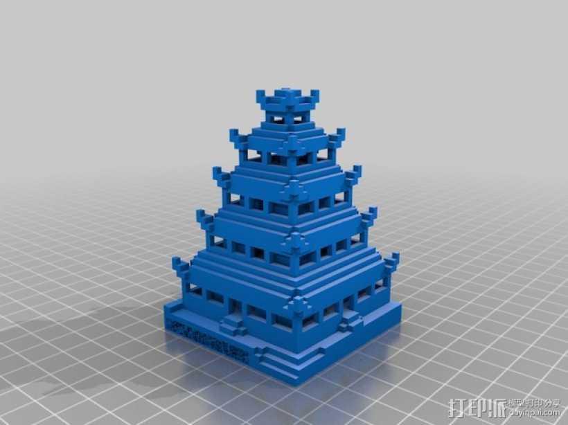 日本佛塔 3D打印模型渲染图