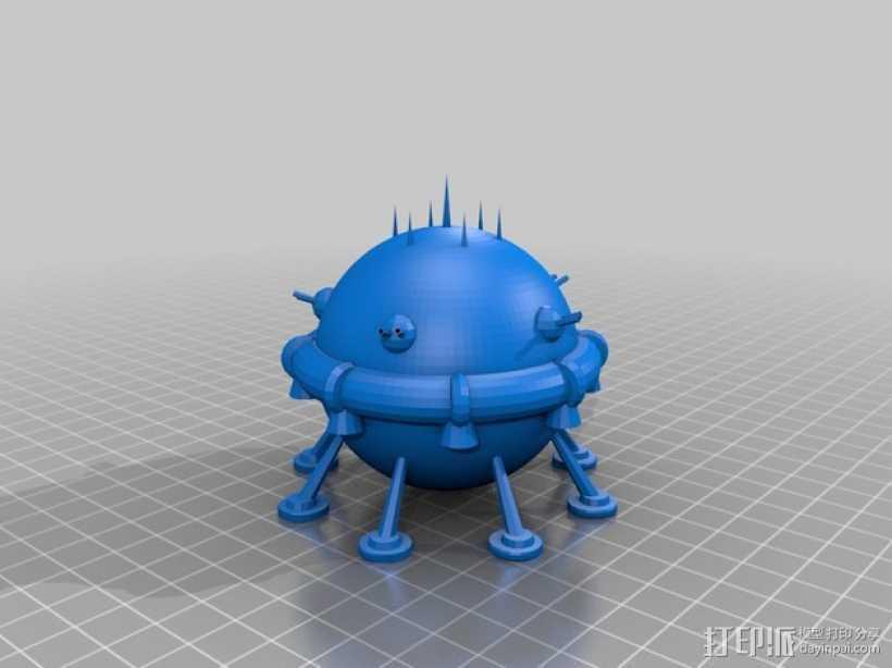 Arkon太空飞船 3D打印模型渲染图