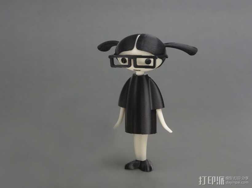 Carla 小玩偶 3D打印模型渲染图