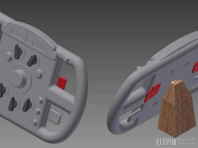 F1赛车方向盘 3D打印模型渲染图