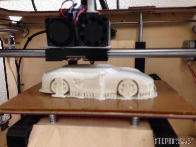 保时捷跑车 3D打印模型渲染图