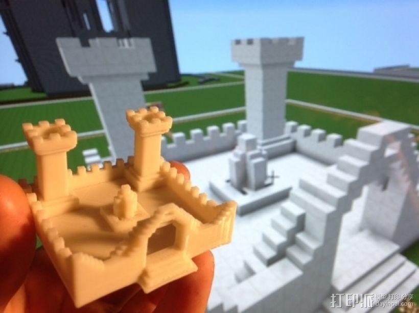 我的世界 城堡 3D打印模型渲染图