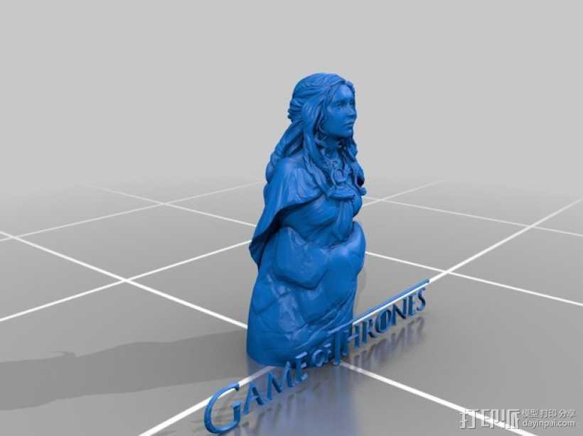 Daenerys Targaryen丹妮莉丝·坦格利安  3D打印模型渲染图