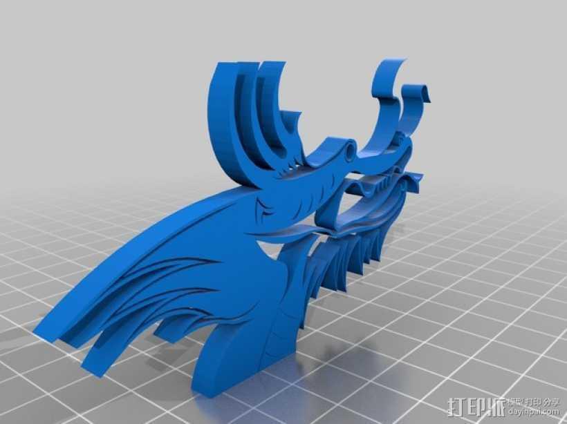 龙头 3D打印模型渲染图