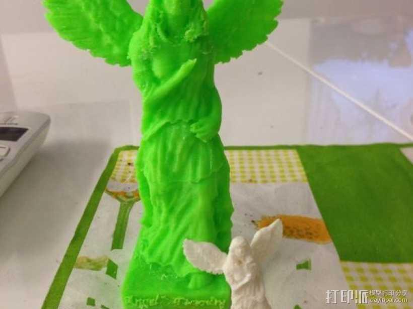 天使雕塑 3D打印模型渲染图