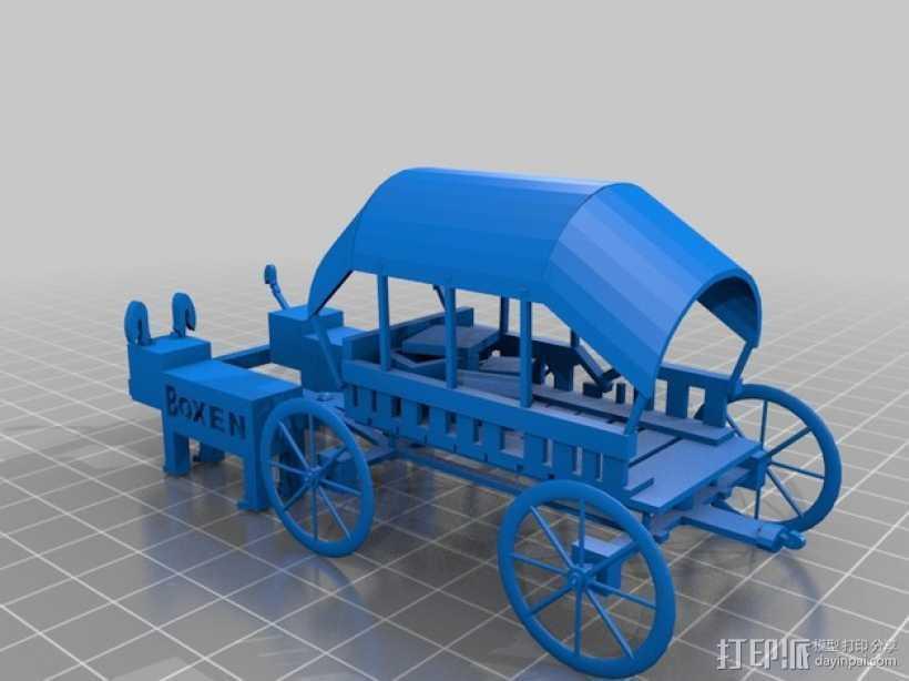 篷车 有蓬式大马车 3D打印模型渲染图