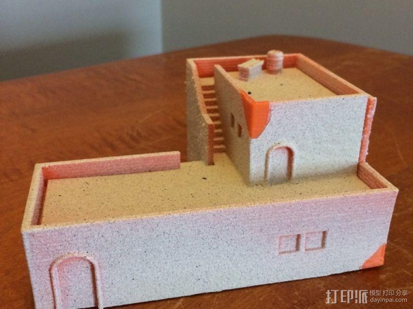 沙漠之家 建筑模型 3D打印模型渲染图