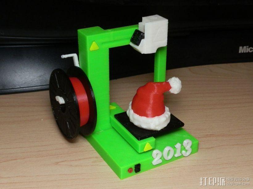 圣诞装饰品:圣诞帽 3D打印模型渲染图