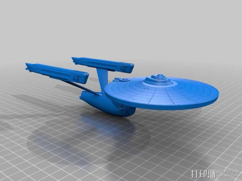 星舰 3D打印模型渲染图