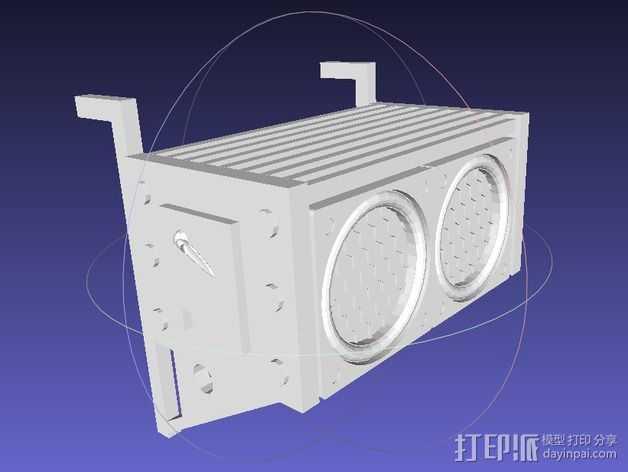 空气过滤器 3D打印模型渲染图