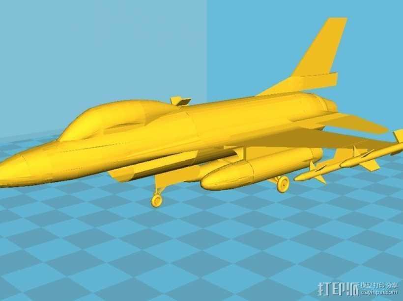 Falcon F16战斗机 3D打印模型渲染图