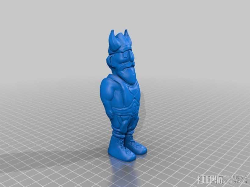 维京人Knut 3D打印模型渲染图
