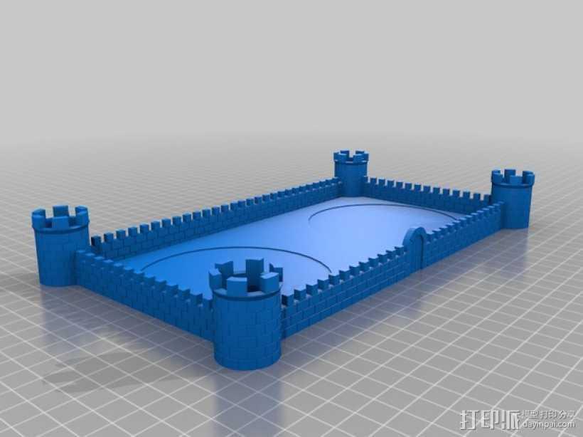 城堡围墙 3D打印模型渲染图