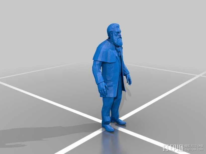 Zachary Hale Comstock扎卡里·黑尔·康姆斯托克  3D打印模型渲染图
