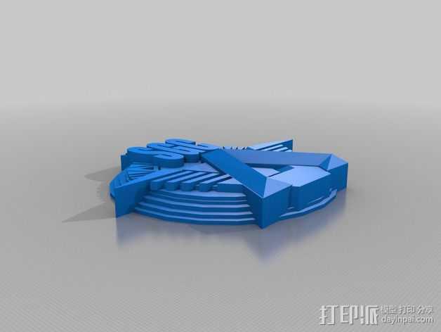 Sgc 徽章标志 3D打印模型渲染图