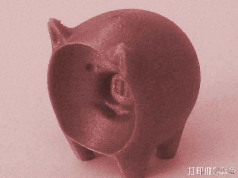 凹面猪 3D打印模型渲染图