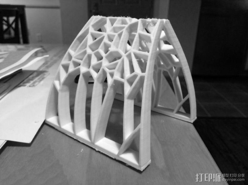 泰森多边形拱门 3D打印模型渲染图