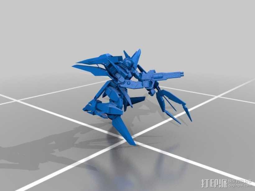 主天使高达 3D打印模型渲染图