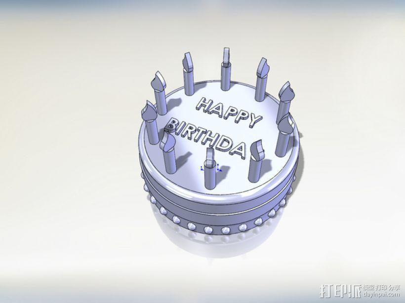 生日蛋糕 3D打印模型渲染图
