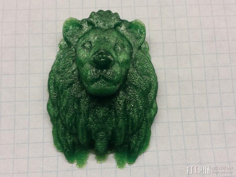 狮子头部模型 3D打印模型渲染图