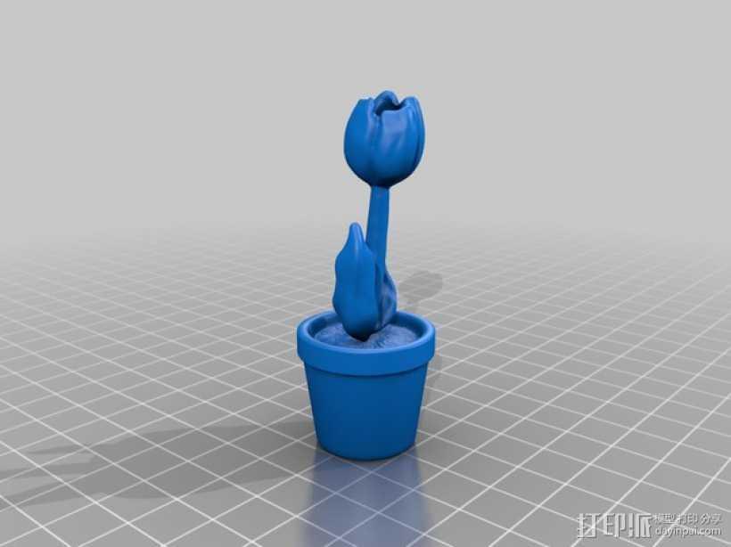 郁金香 3D打印模型渲染图