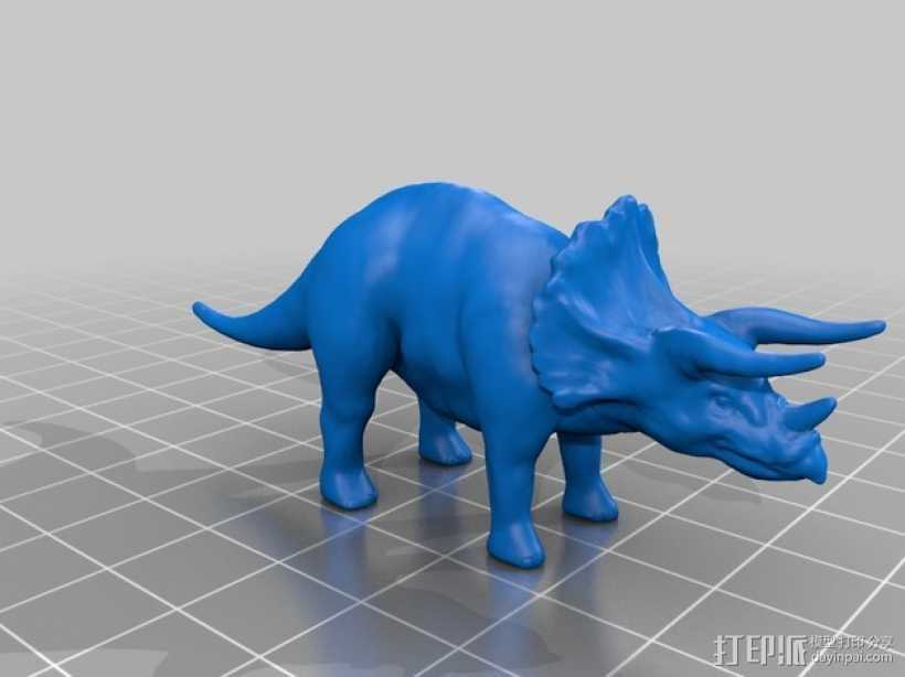 三角恐龙 3D打印模型渲染图
