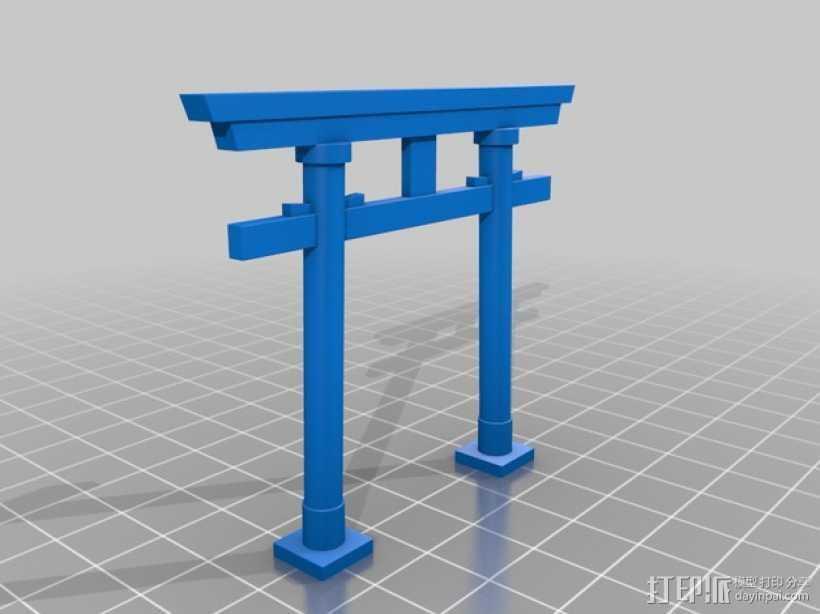 牌坊 3D打印模型渲染图