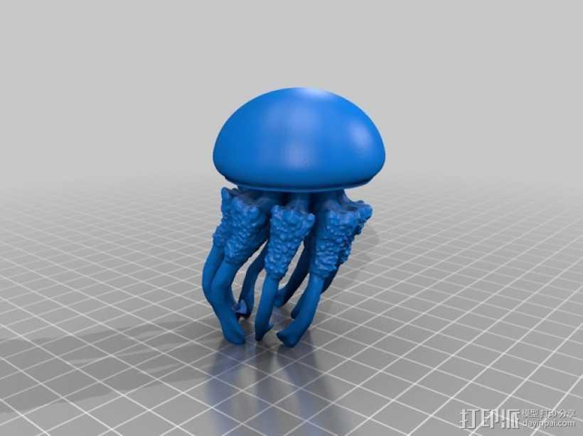水母 3D打印模型渲染图