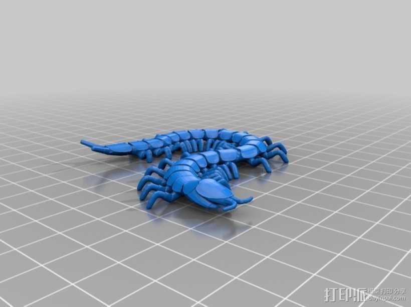 蜈蚣 3D打印模型渲染图