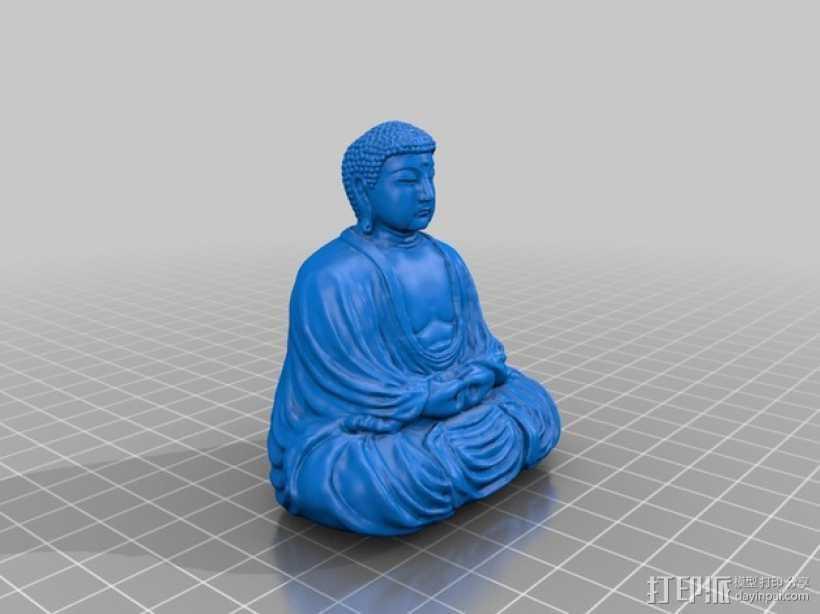 佛像雕塑  3D打印模型渲染图
