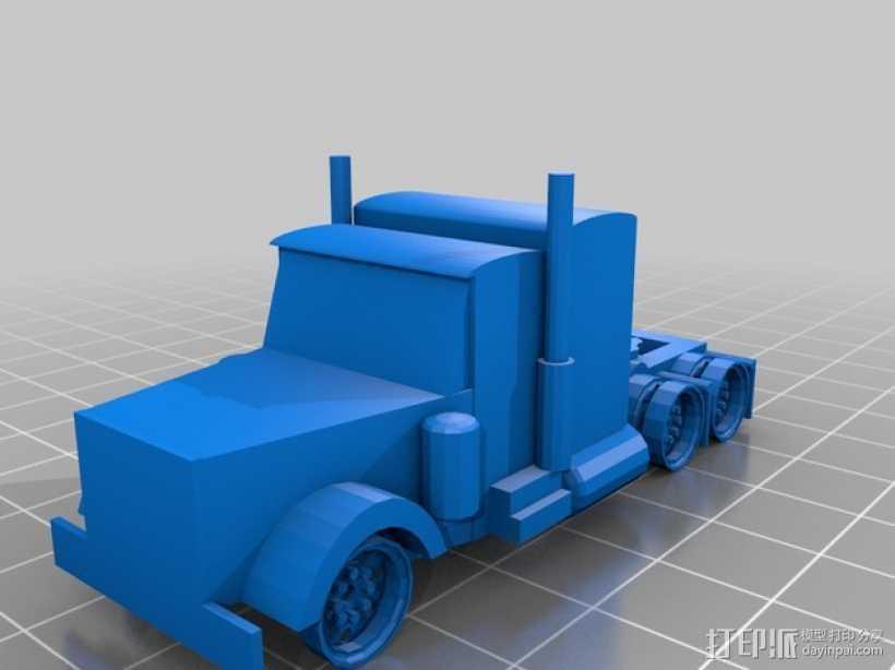 彼得比尔特卡车 3D打印模型渲染图