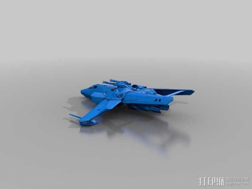 星际公民 超级大黄蜂式攻击战斗机 3D打印模型渲染图