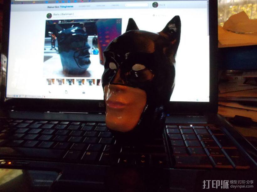 蝙蝠侠头部模型 3D打印模型渲染图