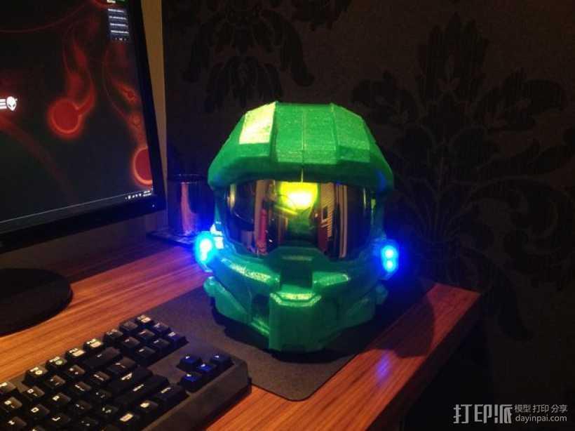 光晕头盔部件 3D打印模型渲染图
