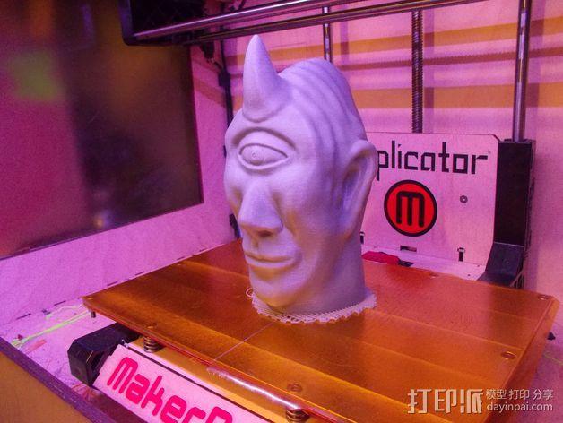 独眼巨人头部模型  3D打印模型渲染图