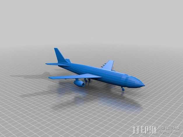 喷气式飞机 3D打印模型渲染图