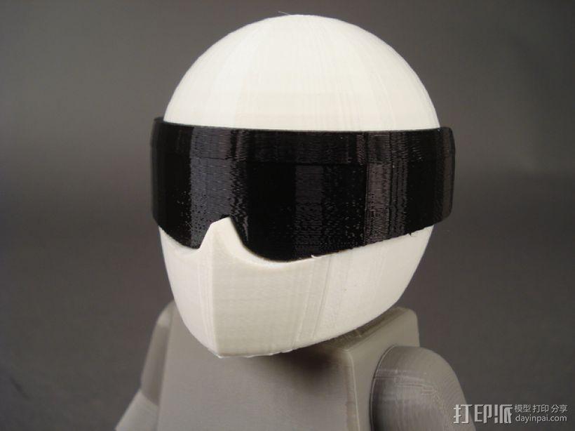 赛车手头盔 3D打印模型渲染图