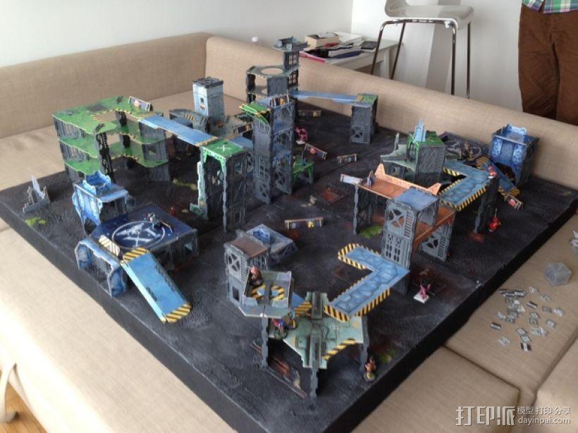 战争游戏建筑 3D打印模型渲染图