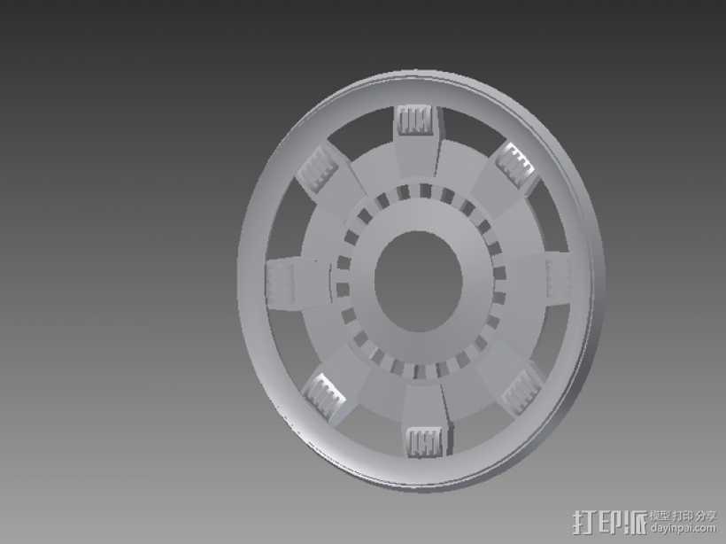 钢铁侠能量环顶部盖罩 3D打印模型渲染图