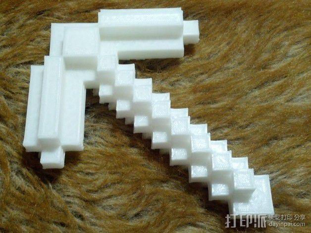 鹤嘴锄 3D打印模型渲染图