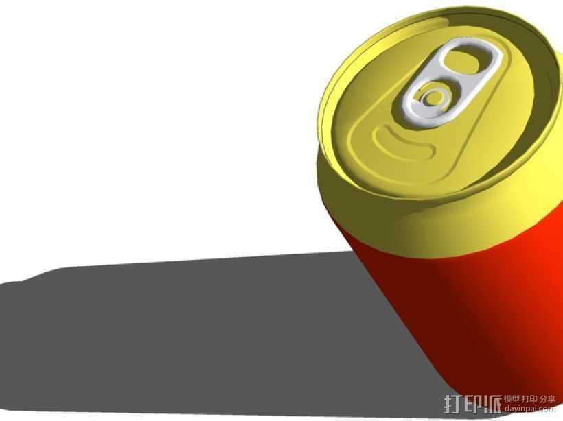 可乐罐 3D打印模型渲染图