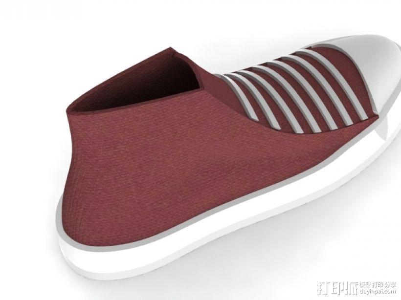 匡威帆布鞋 3D打印模型渲染图