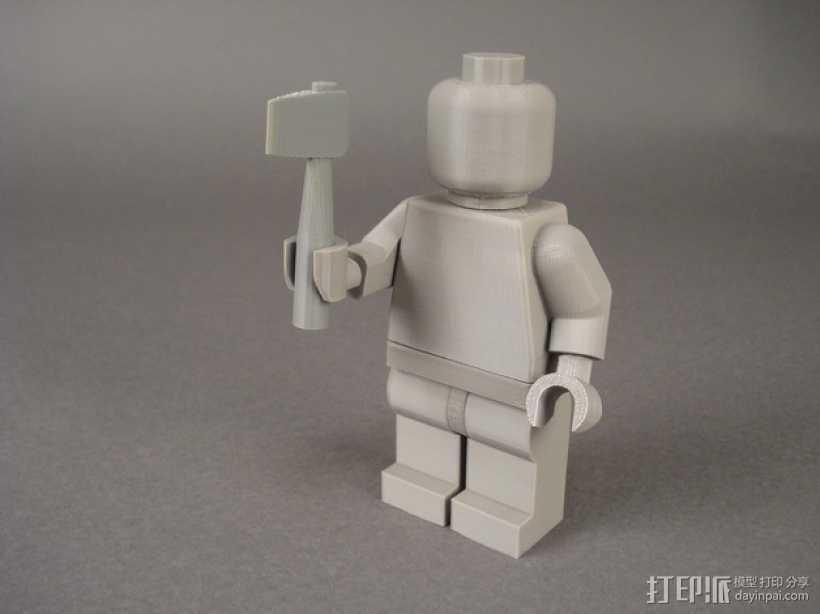 短柄斧头 3D打印模型渲染图